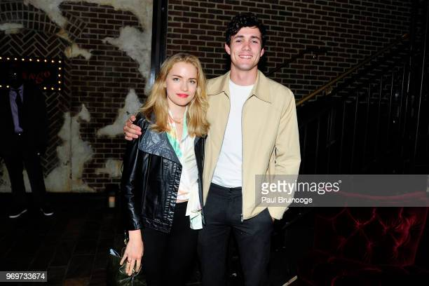 Willa Fitzgerald and Jonah HauerKing attend YouTube With The Cinema Society Host The After Party For Impulse at Oyster Bar at The Roxy Cinema on June...