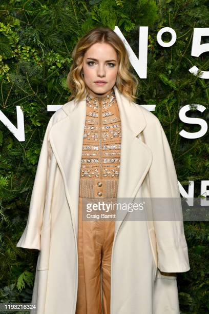 Willa Fitzgerald wearing CHANEL attends the CHANEL party to celebrate the debut of CHANEL N5 In The Snow at The Standard High Line on December 10...