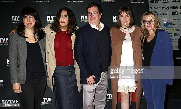 Willa Paskin Jennifer Konner Terence Gray Lena Dunham and Kathleen McCaffrey attend 12th Annual New York Television Festival Creative Keynote A...