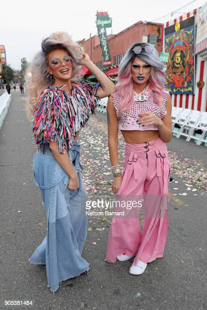 Willam and Rhea Litre attend the Ashton Michael 'Mercy Collection' runway show on January 15 2018 in Hollywood California
