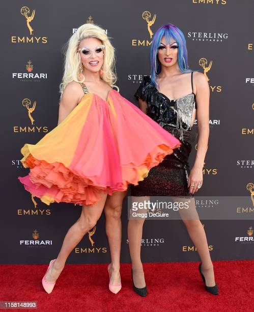 Willam Belli and Rhea Litre arrive at the 71st Los Angeles Area Emmy Awards at Television Academy's Wolf Theatre at the Saban Media Center on July...