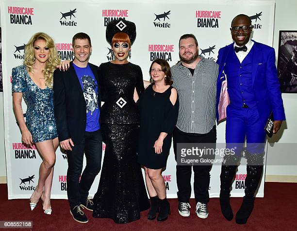 Willam Belli Matt Kugelman Bianca Del Rio Rachel Dratch Ash Christian and Bob the Drag Queen attend the US Premiere Of HURRICANE BIANCA Starring...