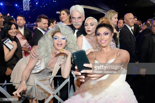 Willam Belli Sam Elliott Lady Gaga and Shangela during the 25th Annual Screen ActorsGuild Awards at The Shrine Auditorium on January 27 2019 in Los...