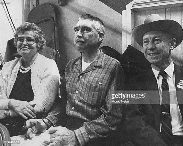 JAN 17 1965 1181966 Willard Simms right manager of National Western Stock Show was host Monday to Lt and Mrs Jerry Mangan during matinee It was the...