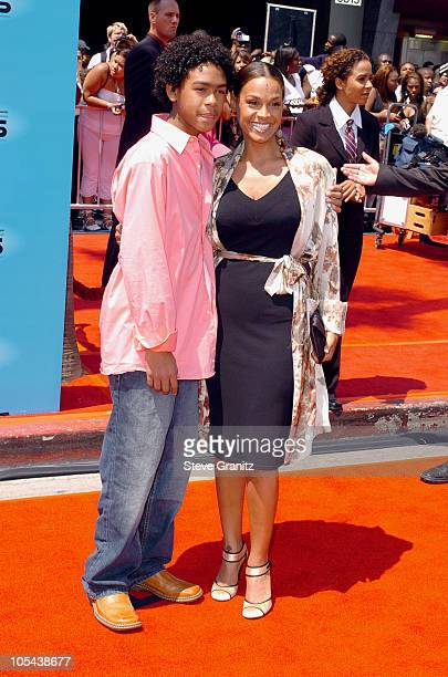"""Willard Smith III """"Trey"""" and mother Sheree Smith during 2005 BET Awards - Arrivals at Kodak Theatre in Hollywood, California, United States."""