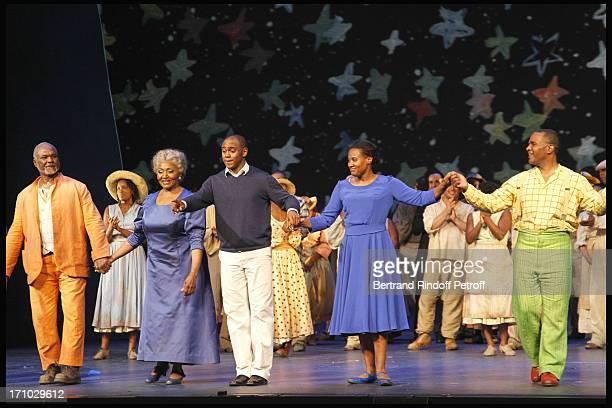 Willard White Grace Bumbry Kazem Abdullah Adina Aaron Stanley Jackson at The Opening Night Of The Opera Treemonisha By Scott Jopin At The Theatre Du...