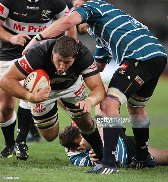 Willem Alberts during the Absa Currie Cup match between the Sharks and GWK Griquas at Absa Stadium on August 27: 2010 in Durban, South Africa.