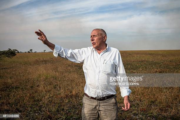 Willem Boulanger, a Belgian living in Democratic Republic of Congo, poses for a photo in his game reserve project about 10 km from Kolwezi, on May...