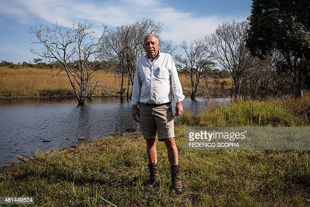 Willem Boulanger, a Belgian living in Democratic Republic of Congo, poses for a photo in his game reserve project near Kolwezi, on May 30, 2015....