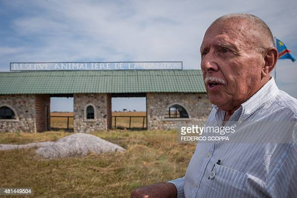 Willem Boulanger, a Belgian living in Democratic Republic of Congo, stands in front of the gate of his game reserve project about 10km from Kolwezi,...