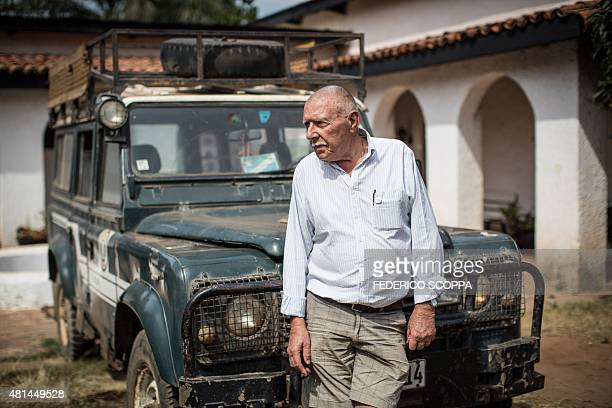 Willem Boulanger, a Belgian living in Democratic Republic of Congo, poses in front of his Land Rover in which he came with from Belgium, in Kolwezi,...