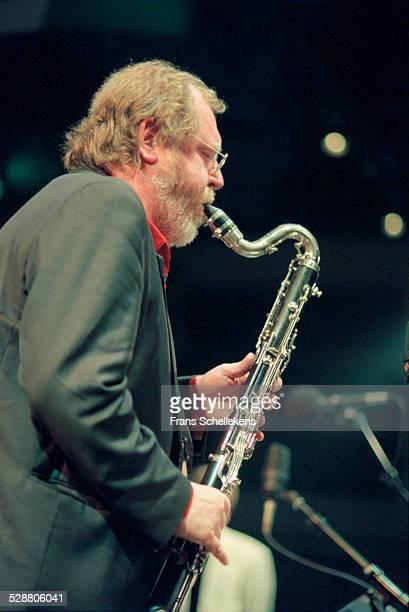 Willem Breuker, saxophones, performs at the BIM huis on October 21st 2000 in Amsterdam, Netherlands.