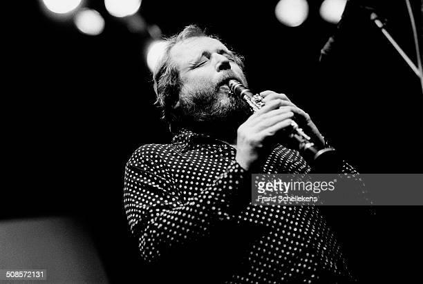 Willem Breuker, soprano saxophone, performs at Bellevue on 30th December 1991 in Amsterdam, Netherlands.