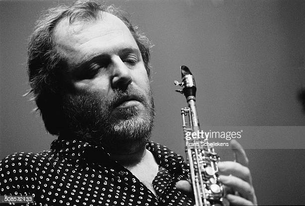 Willem Breuker, soprano saxophone, performs at Bellevue on 30th December 1991 in Amsterdam, Netherlands.