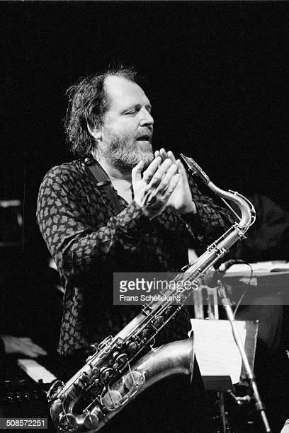 Willem Breuker, tenor saxophone, performs at the BIM Huis on 3rd November 1994 in Amsterdam, Netherlands.