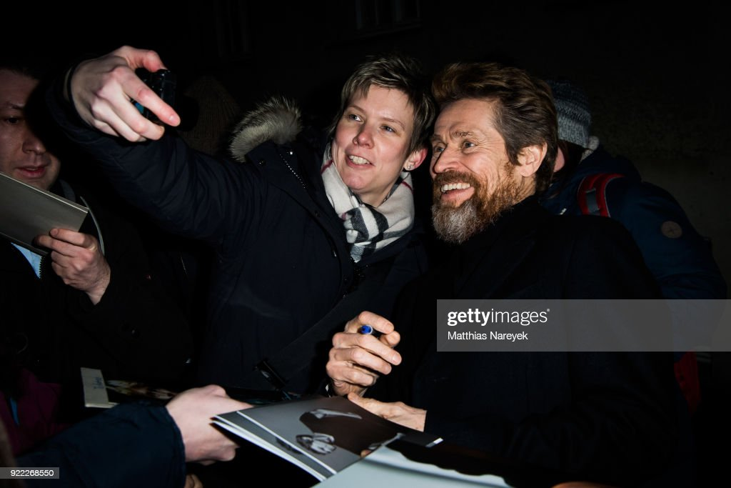 Willem Dafoe after the homage event 'A Journey Through Time with Willem Dafoe' during the 68th Berlinale International Film Festival Berlin at Hebbel am Ufer on February 21, 2018 in Berlin, Germany.