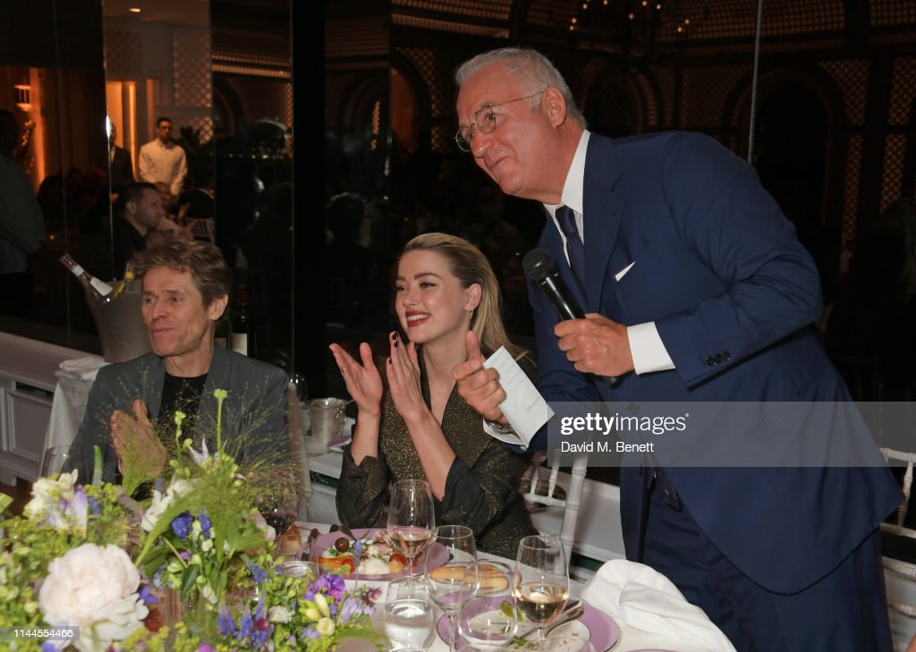 Charles Finch, Edward Enninful & Michael Kors Honour Lynne Ramsey & Claire Denis At The 10th Annual Filmmakers Dinner In Cannes : News Photo