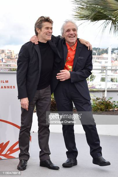 Willem Dafoe and Abel Ferrara attend the photocall for Tommaso during the 72nd annual Cannes Film Festival on May 20 2019 in Cannes France
