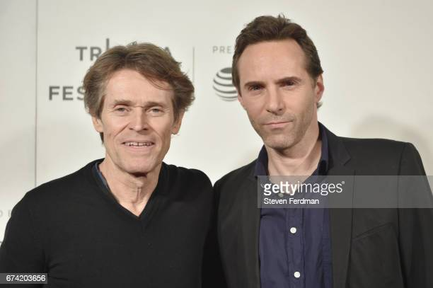 Willem Dafoe and Alessandro Nivola attend Awards Night during the Tribeca Film Festival at BMCC Tribeca PAC on April 27 2017 in New York City