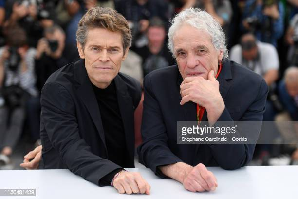 Willem Dafoe and Director Abel Ferrara attend the photocall for Tommaso during the 72nd annual Cannes Film Festival on May 20 2019 in Cannes France