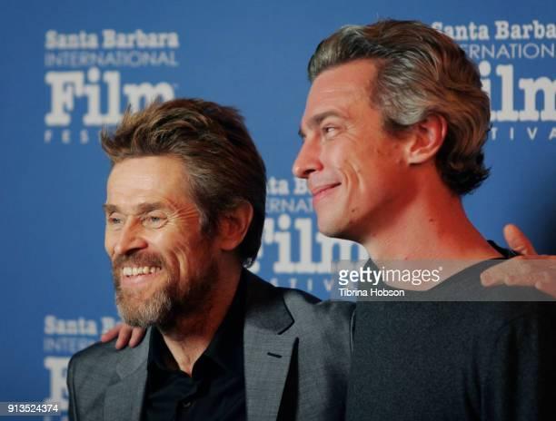 Willem Dafoe and Director Josh Boone attend the 33rd Annual Santa Barbara International Film Festival Cinema Vanguard Award presentation honoring...