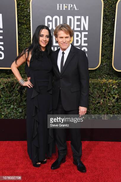 Willem Dafoe and Giada Colagrande attend the 76th Annual Golden Globe Awards at The Beverly Hilton Hotel on January 6, 2019 in Beverly Hills,...