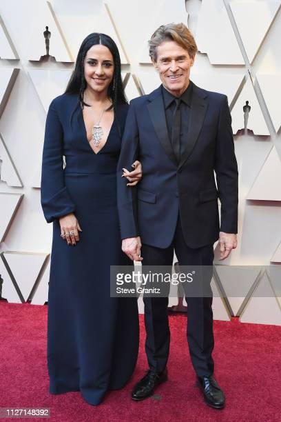 Willem DaFoe and Giada Colagrande attend the 91st Annual Academy Awards at Hollywood and Highland on February 24 2019 in Hollywood California