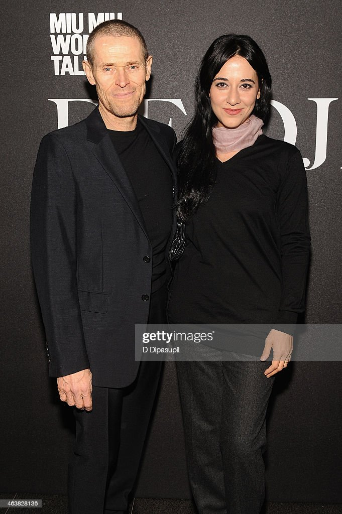 Willem Dafoe (L) and Giada Colagrande attend the Miu Miu Women's Tales 9th Edition 'De Djess' screening on February 18, 2015 in New York City.