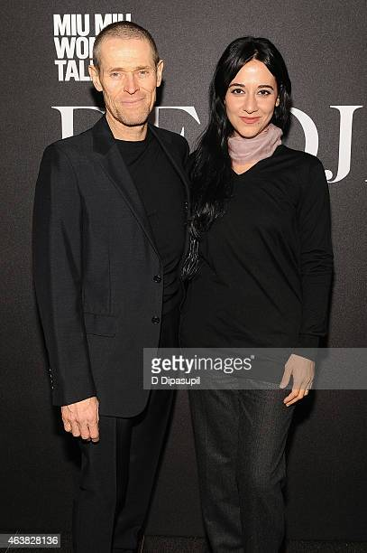 Willem Dafoe and Giada Colagrande attend the Miu Miu Women's Tales 9th Edition 'De Djess' screening on February 18 2015 in New York City