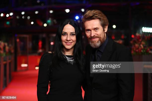 Willem Dafoe and his wife Giada Colagrande attend the Homage Willem Dafoe Honorary Golden Bear award ceremony and 'The Hunter' screening during the...