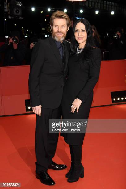 Willem Dafoe and his wife Giada Colagrande attend the Hommage Willem Dafoe Honorary Golden Bear award ceremony and 'The Hunter' screening during the...