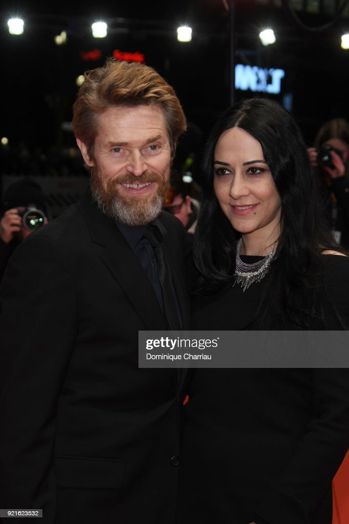 Willem Dafoe (L) and his wife Giada Colagrande attend the Hommage Willem Dafoe - Honorary Golden Bear award ceremony and 'The Hunter' screening during the 68th Berlinale International Film Festival Berlin at Berlinale Palast on February 20, 2018 in Berlin, Germany.