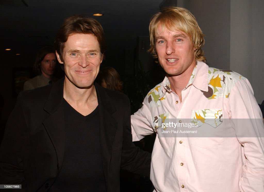 Willem Dafoe and Owen Wilson during 'The Life Aquatic with Steve Zissou' Los Angeles Screening at Harmony Gold Theater in Hollywood, California, United States.