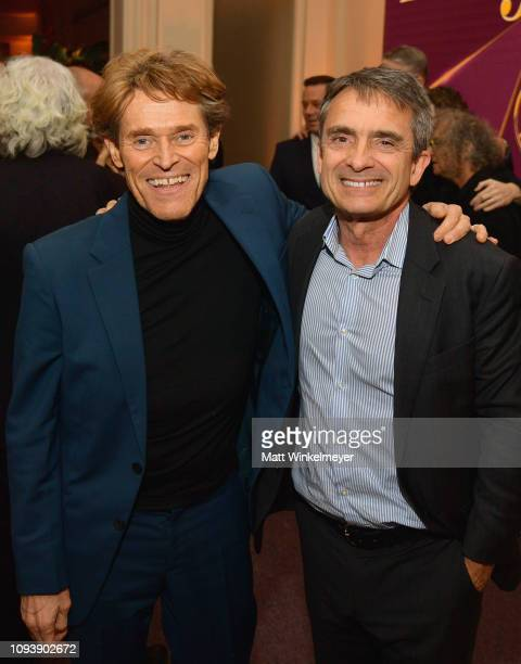 Willem Dafoe and Stephen Galloway attend The Hollywood Reporter's 7th Annual Nominees Night presented by MercedesBenz Century Plaza Residences and...