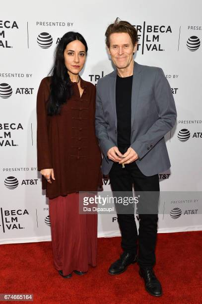 Willem Dafoe and wife Giada Colagrande attend the 'Julian Schnabel A Private Portrait' premiere during the 2017 Tribeca Film Festival at SVA Theater...