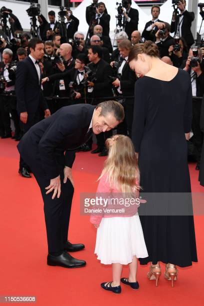 Willem Dafoe Anna Ferrara and Cristina Chiriac attend the screening of La Belle Epoque during the 72nd annual Cannes Film Festival on May 20 2019 in...