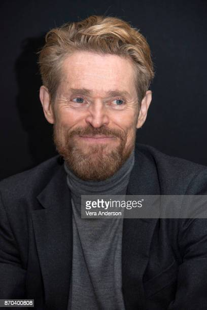 Willem Dafoe at the Murder on the Orient Express Press Conference at the Claridges Hotel on November 3 2017 in London England