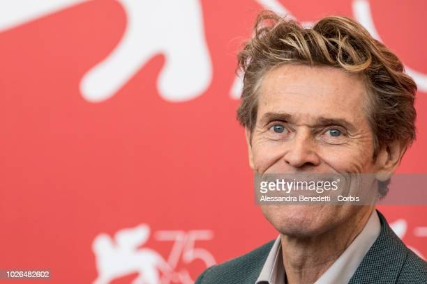 Willem Dafoe attends 'At Eternity's Gate' photocall during the 75th Venice Film Festival at Sala Casino on September 3 2018 in Venice Italy