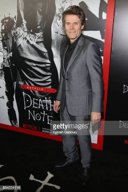 Willem Dafoe attends Death Note New York Premiere at AMC Loews Lincoln Square 13 theater on August 17 2017 in New York City