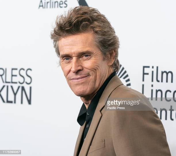 Willem Dafoe attends Motherless Brooklyn premiere during 57th New York Film Festival at Alice Tully Hall