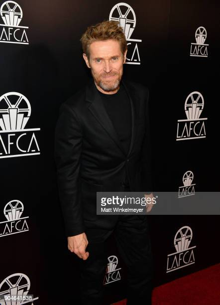 Willem Dafoe attends the 43rd Annual Los Angeles Film Critics Association Awards on January 13 2018 in Los Angeles California