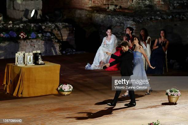Willem Dafoe attends the closing night of the Taormina Film Festival on July 19 2020 in Taormina Italy