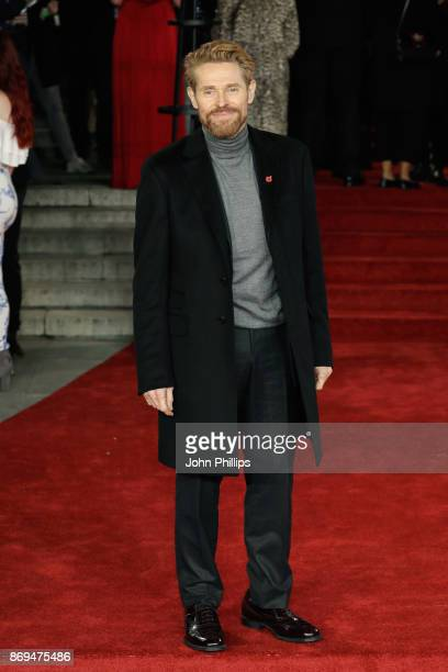 Willem Dafoe attends the 'Murder On The Orient Express' World Premiere at Royal Albert Hall on November 2 2017 in London England