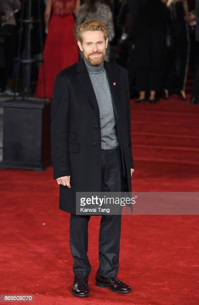 Willem Defoe attends the 'Murder On The Orient Express' World Premiere at Royal Albert Hall on November 2 2017 in London England