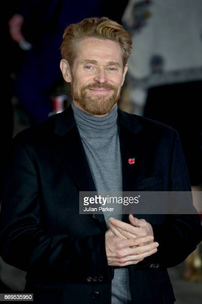 Willem Dafoe attends the 'Murder On The Orient Express' World Premiere held at Royal Albert Hall on November 2, 2017 in London, England.