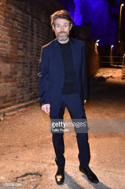 Willem Dafoe attends the red carpet of the closing night of the Taormina Film Festival on July 19 2020 in Taormina Italy