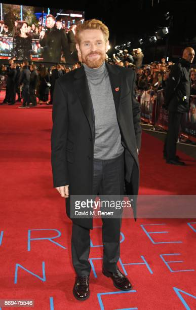 Willem Dafoe attends the World Premiere of 'Murder On The Orient Express' at The Royal Albert Hall on November 2 2017 in London England