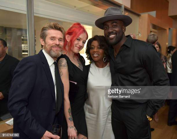 Willem Dafoe Bria Vinaite Alfre Woodard and a guest attend The Hollywood Reporter 6th Annual Nominees Night at CUT on February 5 2018 in Beverly...