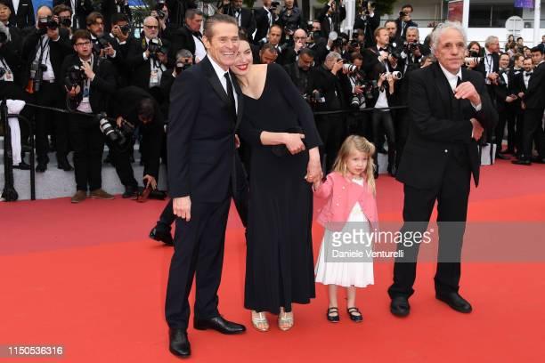 Willem Dafoe Cristina Chiriac Anna Ferrara and Abel Ferrara attend the screening of La Belle Epoque during the 72nd annual Cannes Film Festival on...