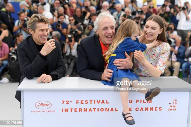 Willem Dafoe Director Abel Ferrara Anna Ferrara and Cristina Chiriac attend the photocall for Tommaso during the 72nd annual Cannes Film Festival on...
